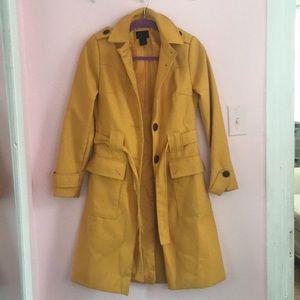 Victoria's Secret Vía Spiga Mustard Coat